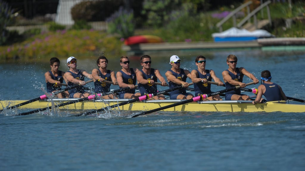 UCSD's Freshman 8 Crew competes in a heat last Saturday afternoon.