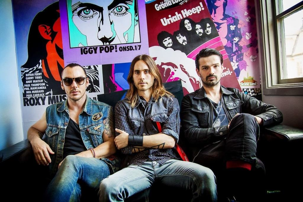 30 Seconds to Mars (left to right: Shannon Leto, Jared Leto, Tomo Milicevic) photo courtesy of 30 Seconds to Mars Support.