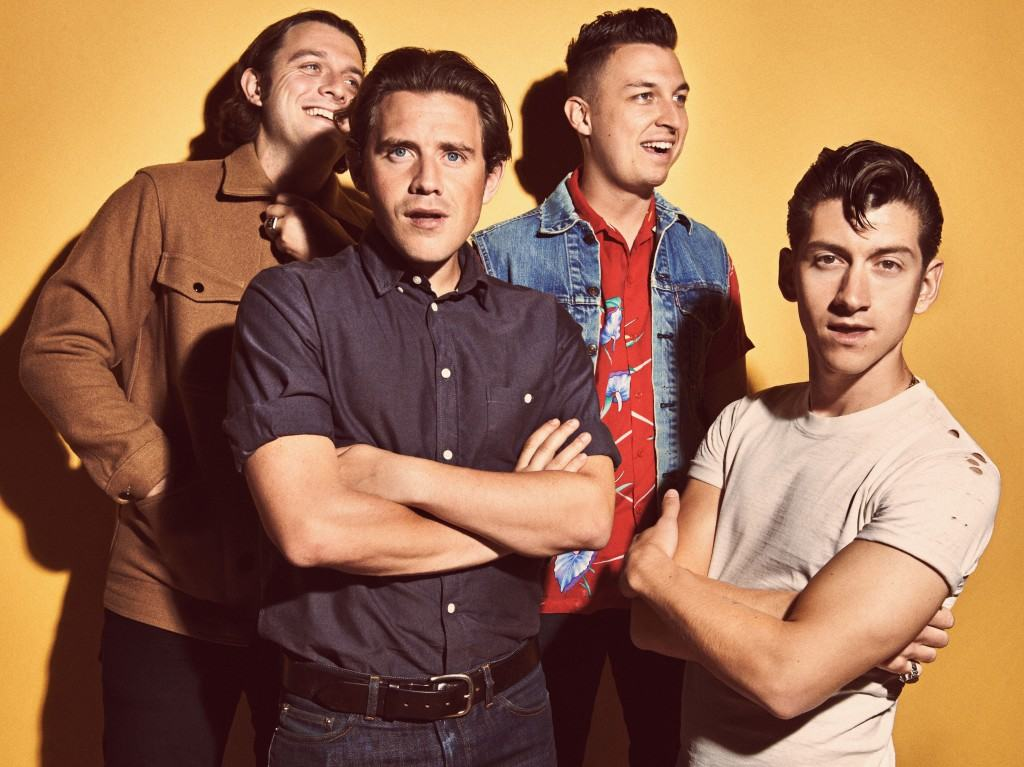 Arctic Monkeys (left to right: Nick O'Malley, Jamie Cook, Matt Helders, Alex Turner) photo used with permission from Press Here Now.