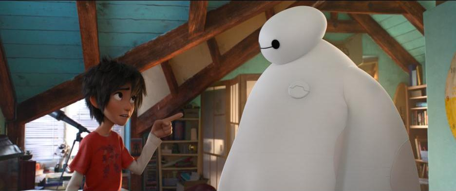 The relationship between the lovable, huggable robot Baymax and his owner Hiro is integral to this stunning animation. Photo used with permission from Walt Disney Pictures.