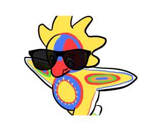 sun god with glasses