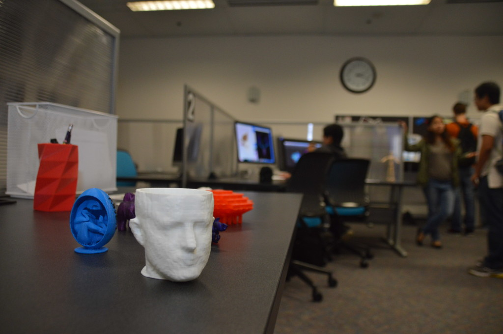 DML offers resources for 3-D printing and modeling.  Photo by Jesus Pacheco